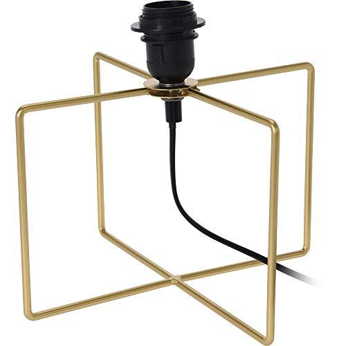 Lámpara de mesa (cuadrada, 25 cm), color dorado