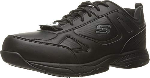 Skechers mens Dighton Work Shoe, Black Synthetic/Leather, 7...