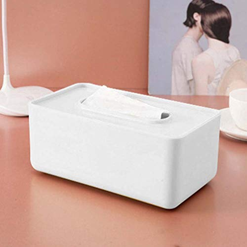 MeterMall Home For Nordic Style Tissue Box Paper Towel Holder for Home Table Decor Organizer Household Supplies white