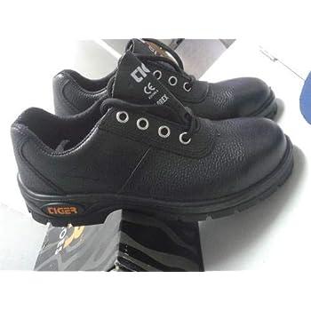 Tiger Men's Low Ankle Lorex Steel Toe Safety Shoes (Size 7 UK, Black, Leather)