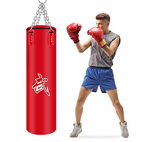 XHLLX Gefüllter Boxsack, schwere Boxsäcke zum Aufhängen, Fitness, Workout, Training, Kickboxen, Boxsack mit Kette, Training