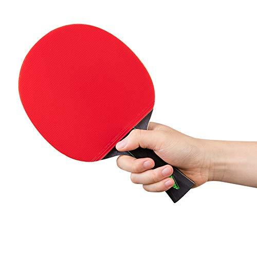 KPOON Pádel de Mesa Seis Estrellas Mesa de Ping Pong Raqueta Horizontal Juego de la Competencia Horizontal de Doble Cara Anti-Adhesivo Single Shot Paleta de Ping Pong dúplex