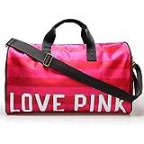 Is Woman Damen Turnbeutel Sporttaschen Sporttaschen Sporttaschen Gym Duffel Bag mit Schuhfach M Pink...