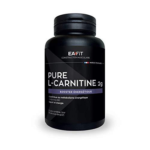 EAFIT Pure L-Carnitine Gélules- 2000 mg - 90 gélules - Bruleur de graisse - Perte de poids - Booster Energétique - Améliore Rendement Sportif - 15 séances - Marque Française - Certifié anti-dopage