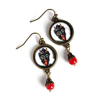 Victorian krampus Earrings