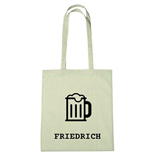 JOllify Baumwolltasche - Happy Birthday für FRIEDRICH - Bier Gruß