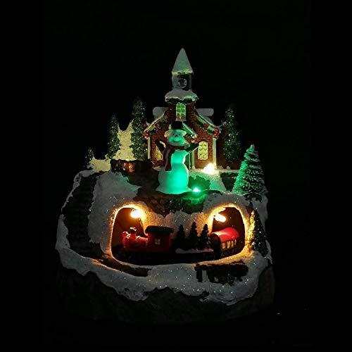 Silumen Village Noel Lumineux avec Train Qui Tourne (à Pile 3AAA Non Incluse) - Motif 2