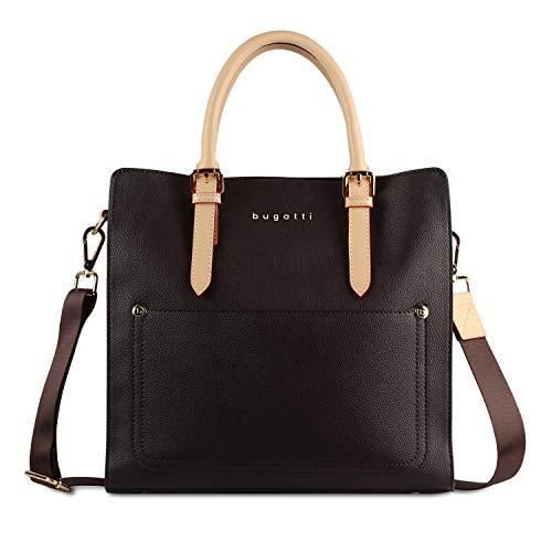 Bugatti Ella Handtasche Damen L - Frauen Tasche, Damenhandtasche – Braun