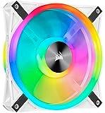 Corsair QL Series, iCUE QL140 RGB, 140mm RGB LED PWM White Fan, Single Fan