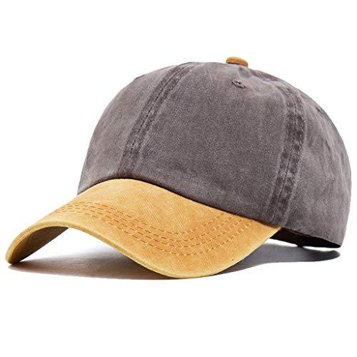 Yutdeng Baseball Cap Unisex Kappe Classic Vintage Cap Sommer Cap Hüte Sun Sports Baseball Cap Zweifarbige Patchwork-Baseballmütze Snapback