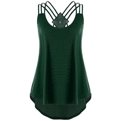 ESAILQ Damen Ultra Damen Pique-Poloshirt Basic(S,Dunkelgrün)