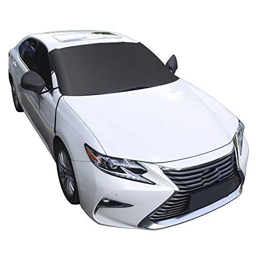 Cubierta de ventana sin marca invierno nieve escudo coche parabrisas nieve cubierta impermeable hielo helada parasol protector con espejo cubre accesorios de coche zhhhhhhhhhhx