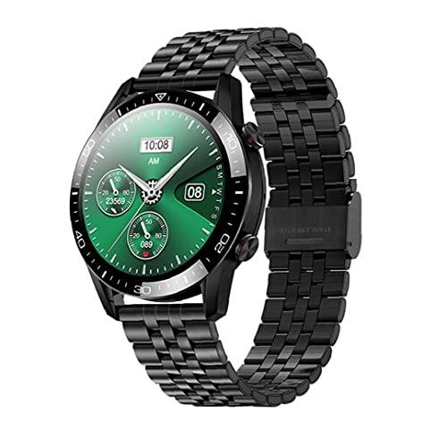 Runfon Inteligente Venda de Reloj de Bluetooth Llamada Fitness Deportivo Relojes de Pantalla táctil Completa SmartWatch Impermeable para Mujer de los Hombres Negro