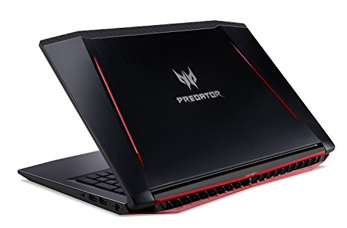 Acer Predator Helios 300 Gaming Laptop, 15.6 Full HD IPS, Intel i7 CPU, 16GB DDR4 RAM, 256GB SSD, GeForce GTX 1060-6GB, VR Ready, Red Backlit KB, Metal Chassis, Windows 10 64-bit, G3-571-77QK