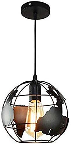 Aarde Vorm Globe Koperen Hanglamp Verlichting Iron Art DIY Modellering Lampenkap Industriële Vintage Stijl Eenvoudige Smeedijzeren Kroonluchter Creatieve Loft Ophangende Plafond Lamp voor Indoor Bar