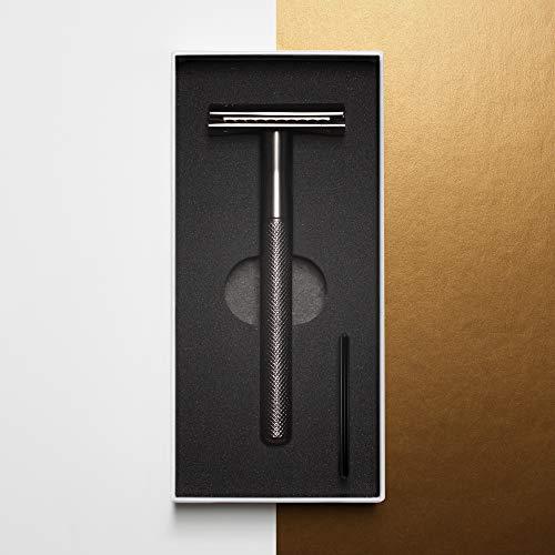 MANSCAPED™ The Plow™ 2.0 Premium Sicherheitsrasierer mit einer Doppelklinge, Rasierhobel für Männer aus Edelstahl, Nassrasierer mit einer Klinge, Rasierhobel für den Intimbereich