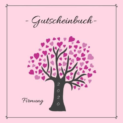 Gutscheinbuch - Firmung: farbiges Gutscheinheft zum selbst gestalten | Geschenkidee zur Firmung | Geschenkbuch für Mädchen