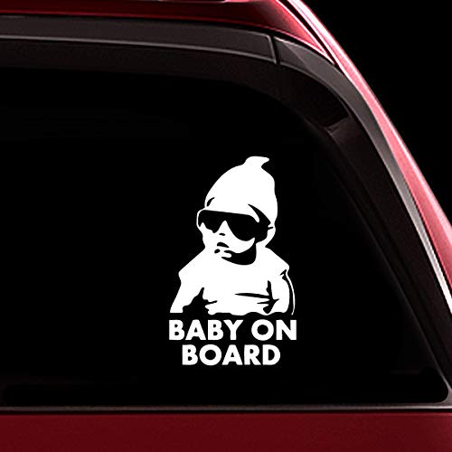 TOTOMO Baby on Board Sticker - Funny Cute Safety Caution Decal Sign with Carlos from The Hangover for Cars Windows and Bumpers ALI-001