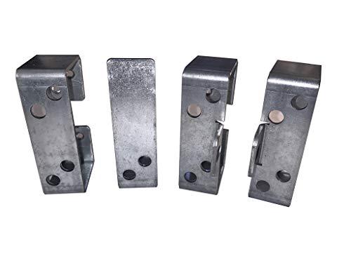 2x4 Security Bar Holder Kit Slim Mount for External Barricade Bars for 2 Door Sheds, Barns, and Gates