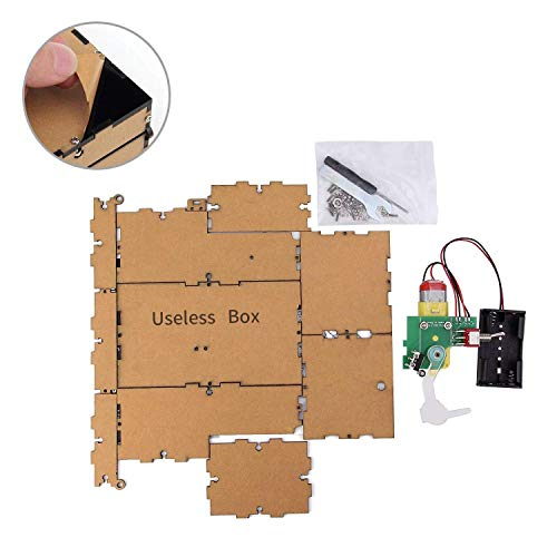 KINMINGZHU DIY Assembled Useless Box Leave Me Alone Machine for Birthday and Party Gift Toy Game(Black -DIY)