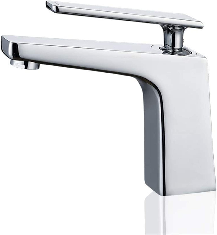 Basin Mixer Tap Bath Fixtures Wash Basinsinkkitchen All Copper Washbasin, Tap, Single Basin, Bathroom, Bathroom, Hot and Cold Water Mixing Faucet.
