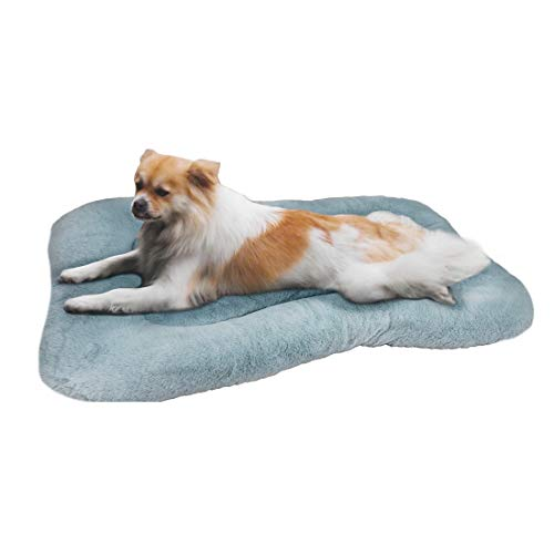 "WZ PET Dog Bed Mat Crate Pad,Soft Dog Crate Bed Cushion Anti-Slip,Washable Mattress 31""/36""/40"" Pet Kennel Pad for Large Medium XL Dogs and Cats,Blue Purple Bed Mats"