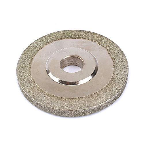 NIDUNO 1pc 100 Grit 3 '' galvanizado Diamante Muela Hoja de Sierra Disco abrasivo de Grano Herramienta for la Herramienta Rotatoria de finura de abrasivo, Cutter