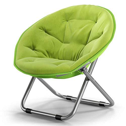 MJK Taburete pequeño, taburete para zapatos en la puerta, bonito taburete grande para adultos, silla de luna, tumbona, silla de radar, silla plegable, silla redonda, respaldo de sofá, color verde