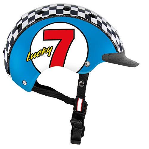 Casco Kinder Mini 2 Lucky 7 Fahrradhelm, blau, S
