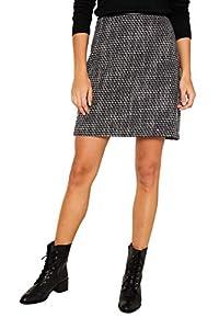 ESPRIT Damen 109Ee1D014 Rock, Schwarz (Black 001), (Herstellergröße: 38)