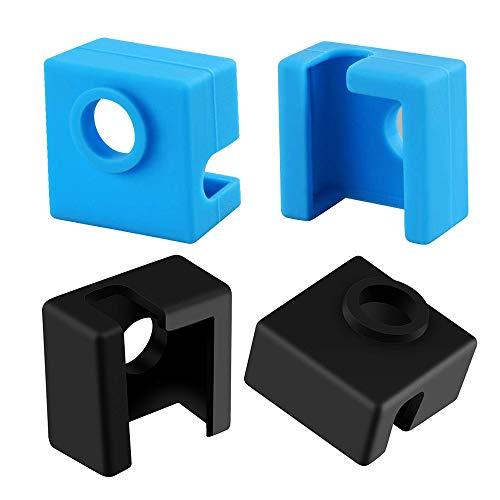 Furiga Calcetín de silicona bloque Hotend cubierta MK8 MK9 para impresora 3D Ender 3 Ender 3 Pro CR-10 10S S4 S5 4PCS
