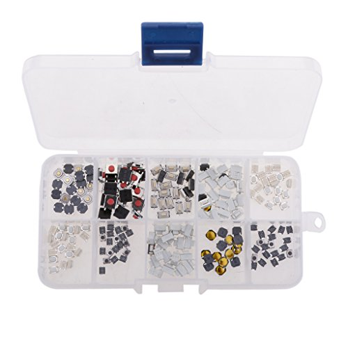 Dovewill 200 Pieces Universal 10-Types Tact Tactile Push Button Switch Assortment Kits