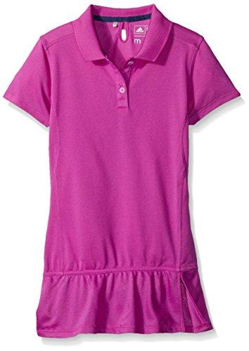 Adidas Climalite Advance Pique S/S Polo para niña (niños grandes) - B8863523, Climalite Advance Pique S/S Polo (niños grandes), XL, rosa (Flash Pink)