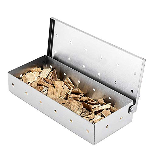 JPYH Caja de humo para barbacoa de acero inoxidable fácil de limpiar...