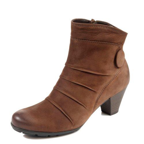 Gabor Damen Schuhe Stiefel Stiefelette Ankle Boots Nubuk Oil Marone Braun 5164118 (37 EU)