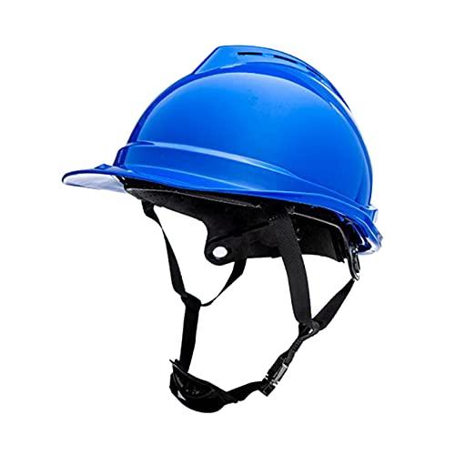 Amagogo Casco de seguridad ABS transpirable al aire libre Sombrero Trabajador Construcción Escalada Ingeniero Constructor Sombrero duro ajustable Suministros - Azul