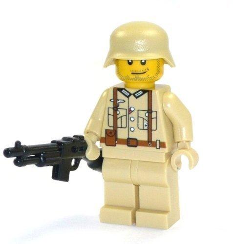Custom Soldat Wehrmacht WW2 Figur beige mit Waffe M1918 aus LEGO® Teilen