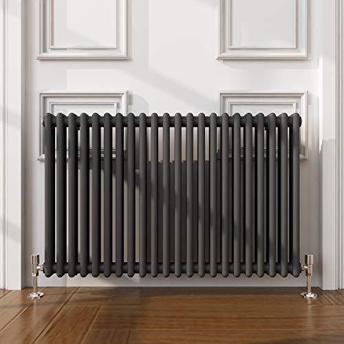 ELEGANTE - Radiadores de baño (hierro fundido, color antracita), color gris