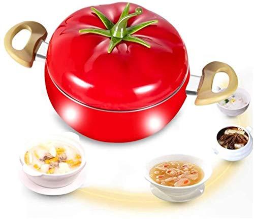 Rollsnownow Cacerola en forma de tomate con tapa, bandeja de frutas de cocina de aluminio antiadherente, bandeja de aluminio, herramientas de cocina domésticas sin aceite