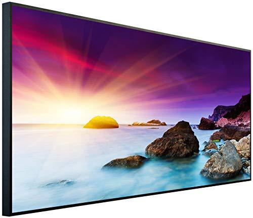 Ecowelle Infrarotheizung mit Bild | 1200 Watt | 60x120 cm | Infrarot Heizung| | Made in Germany| d 10 Sonnenaufgang im lila Himmel