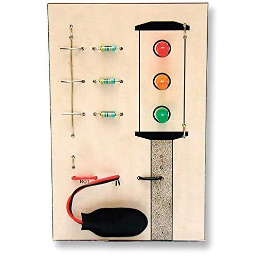 matches21 Lötübung Ampel Leuchtdioden Bausatz f. Kinder Lehrmittel Werkset Bastelset ab 12 Jahren