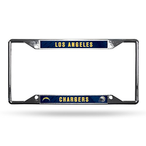 NFL Rico Industries Easy View Chrome License Plate Frame, Los Angeles Chargers