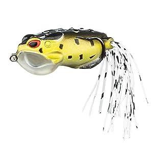 5pcs Topwater Frog Lures Weedless Wake Bait