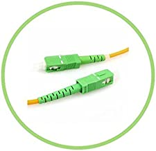 PacSatSales - Fiber Optic Patch Cable - Single Mode - SIMPLEX - OS1-9/125um (3M, SC/APC to SC/APC)