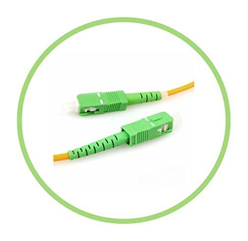 PacSatSales - Fiber Optic Internet Cable - Single Mode Patch Cable - SIMPLEX - OS1-9/125um (3M, SC/APC to SC/APC)