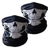 Photo de SOFIT SF-02 Skull Masque de Tubulaire Extensible, Masques Visage de crâne, Masque de Motoneige de Motard, Masque de Bande de Bandana Balaclava