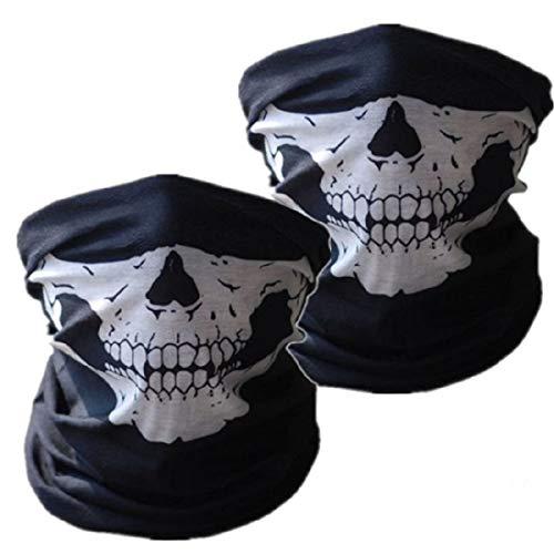 SOFIT SF-02 Skull Mask, Mascarilla Fantasma de Medio Cráneo Tubular Estirable, Motociclista de la Motocicleta Máscara, Bandana Balaclava Headwear