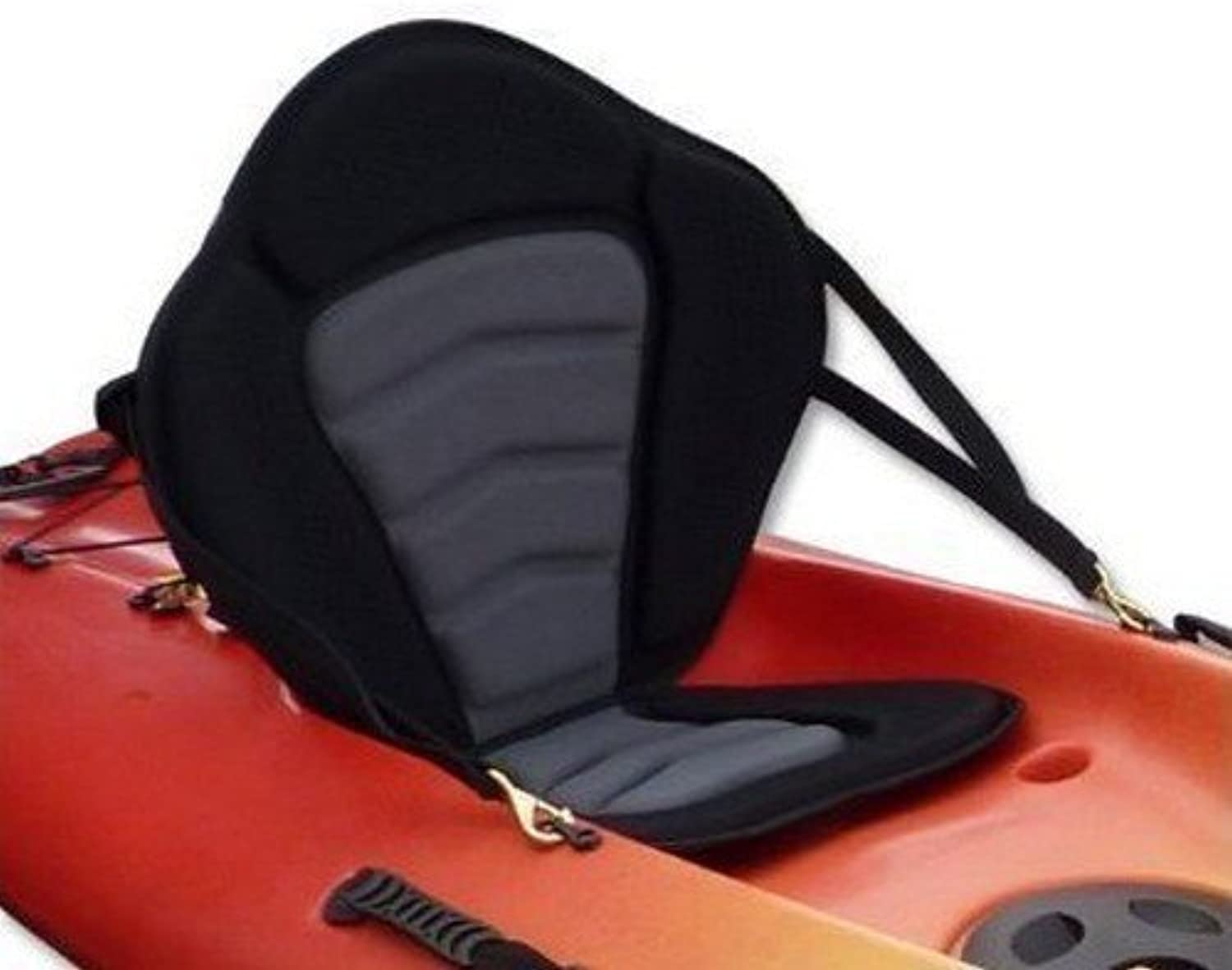 Pactrade Marine Adjustable Padded Deluxe Kayak Seat Detachable Back Backpack Bag Canoe Backrest by Pactrade Marine