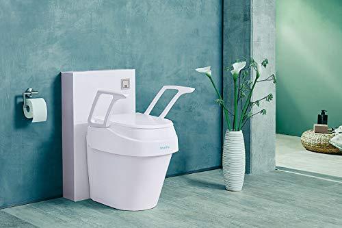Dietz SmartFix 429112 Toilettensitzerhöhung mit Armlehnen, 3-fach höhenverstellbar weiß, Made in Germany HMV 33.40.01.1016
