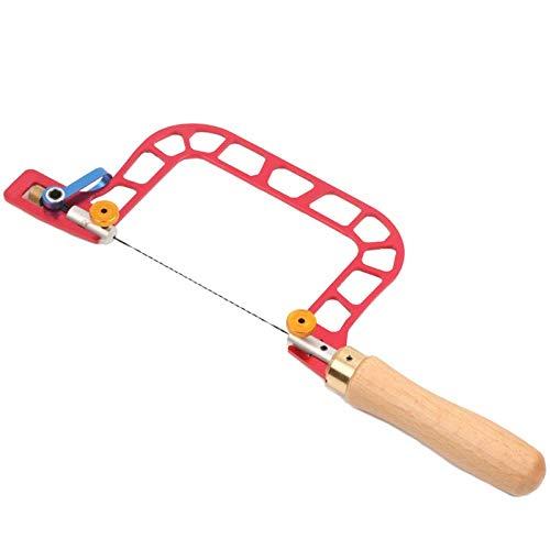LLSS-Schnittsäge, U-förmige Handsäge Bandspannungssäge Handwerkzeug Schraubensägeblatt für Schmuck Holzbearbeitungshandsäge Gartenwerkzeug